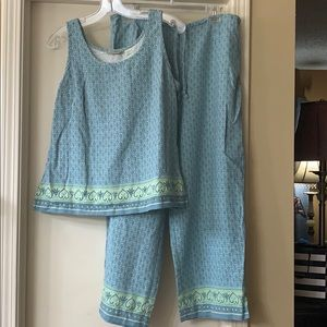 Tommy Bahama Other - Tommy Bahama silk tank top and drawstring pant set